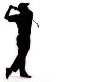 Golfschwingen getrennt auf Weiß Stockfotos