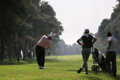 Golfschwingen im riva dei tessali Stockfotografie