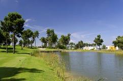 Golfsemesterort Royaltyfri Foto
