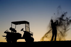golfsilhouette Royaltyfria Foton