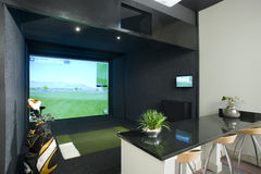 Golfsimulator Royaltyfria Bilder