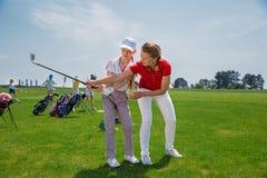 Golfskola royaltyfria foton