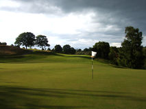 golfskymning Arkivbild