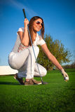 Golfspelare Fotografering för Bildbyråer