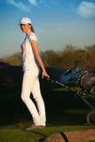 Golfspelare Royaltyfri Fotografi