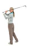 Golfspelare som tar ett skott Royaltyfri Fotografi