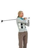 Golfspelare som tar ett skott Arkivfoton