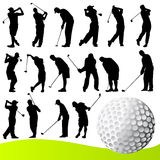 golfspelarevektor Royaltyfri Fotografi