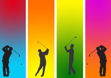 Golfspeler 1 royalty-vrije illustratie