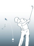 Golfspeler stock illustratie