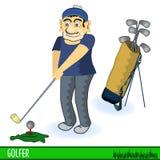 Golfspeler vector illustratie