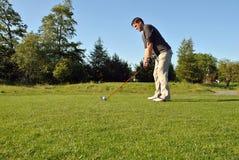 Golfspeler royalty-vrije stock afbeelding