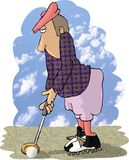 Golfspeler royalty-vrije illustratie