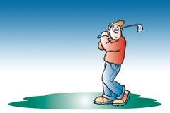 Golfspeler stock illustratie
