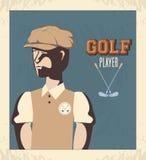 Golfspeler in de cursus vector illustratie
