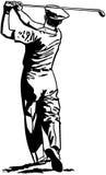 Golfspeler die weg 2 Teeing royalty-vrije illustratie