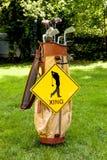 Golfspeler Kruising Royalty-vrije Stock Foto