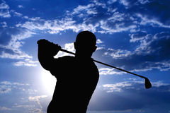 Golfspeler - Mens Stock Afbeeldingen