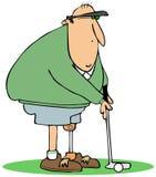 Golfspeler met een kunstmatig been vector illustratie