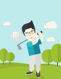 Golfspeler op gebied royalty-vrije illustratie