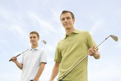 Golfspelers Royalty-vrije Stock Afbeeldingen