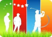 Golfspelers Stock Fotografie