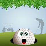 Golfspelersilhouet royalty-vrije illustratie