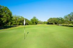 golfspelet royaltyfri foto