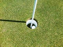 Golfspelprestation arkivbild