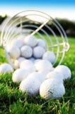 Golfspiel. stockbild