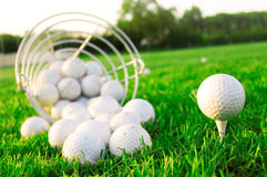 Golfspiel. Lizenzfreie Stockfotos