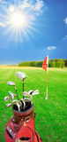 Golfspiel. lizenzfreie stockbilder