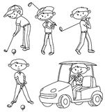 Golfspieler Stockfotos