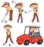 Golfspieler vektor abbildung