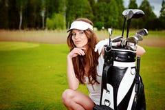 Golfspieler Stockbild