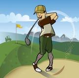 golfspieler lizenzfreie abbildung