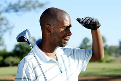Golfspieler lizenzfreie stockbilder