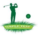 Golfspieler stock abbildung