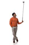 Golfspieler Stockfotografie