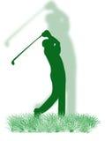 Golfspieler auf dem Gras vektor abbildung