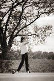 Golfspieler, der weg abzweigt. Lizenzfreies Stockfoto