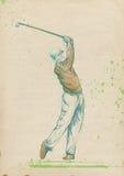 Golfspieler - moderner Mann lizenzfreie abbildung