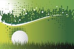Golfspieler schlägt die Kugel lizenzfreie abbildung