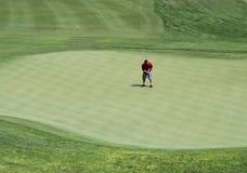 Golfspieler-Setzen Stockbild