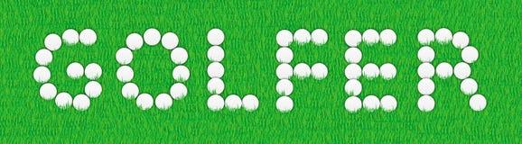 Golfspieler-Zeichen Stockfoto