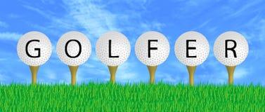 Golfspieler-Zeichen lizenzfreie abbildung