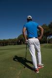 Golfspielerporträt von der Rückseite Lizenzfreie Stockbilder