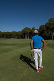 Golfspielerporträt von der Rückseite Lizenzfreies Stockfoto