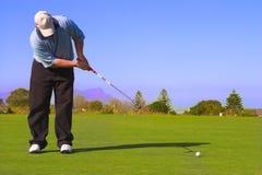 Golfspielersetzen Stockbild