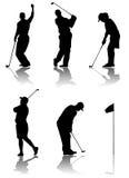 Golfspielervektor Lizenzfreie Stockfotografie